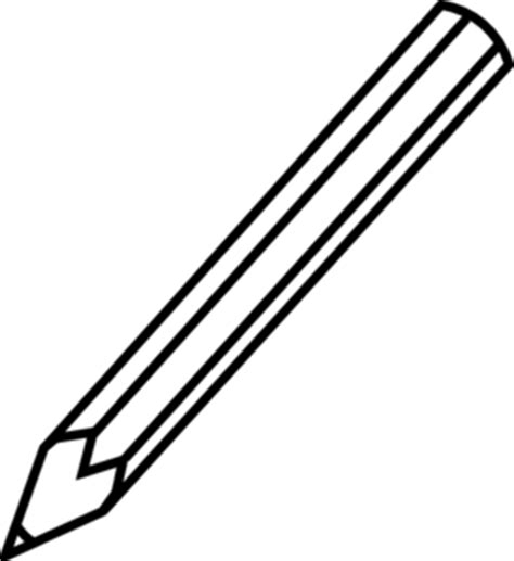 black and white pencil drawings pencil outline clip at clker vector clip