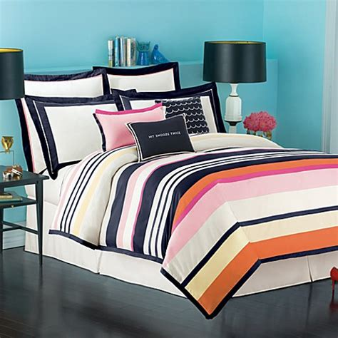 shop bedding buy kate spade candy shop stripe duvet cover from bed bath