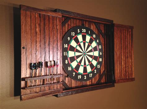 dart board cabinet only rustic dartboard cabinet reclaimed barn wood home decor