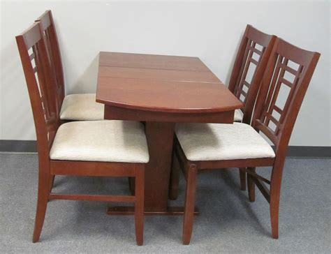 Rv Dining Table And Chairs Rv Hide Leaf Dinette Table Folding Slat Storage Chairs