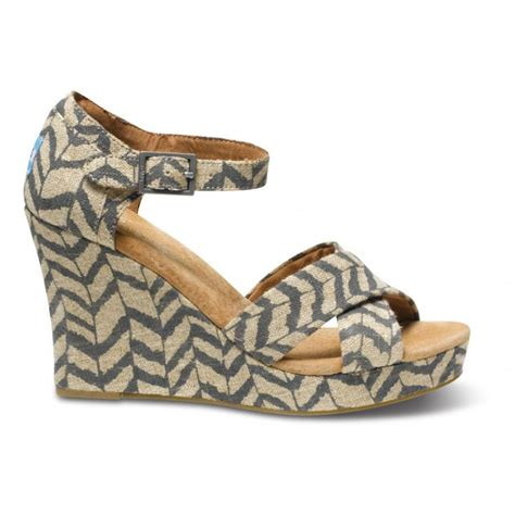 toms striped wedges womens shoe d d outfitters