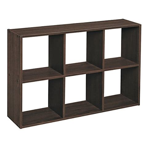 Closetmaid 6 Cube Organizer Espresso closetmaid 1582 cubeicals 6 cube mini organizer espresso