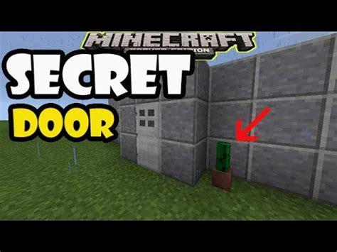 secret door unusual   open doors minecraft pe