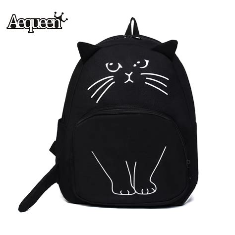 Lovely Cat Backpack By Anfashion aliexpress buy aequeen lovely cat printing backpack