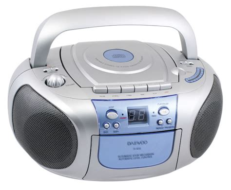cd and cassette player daewoo tp463 portable cd radio cassette player