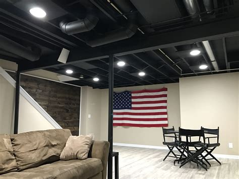 black basement ceiling exposed basement ceiling painted black basement ideas