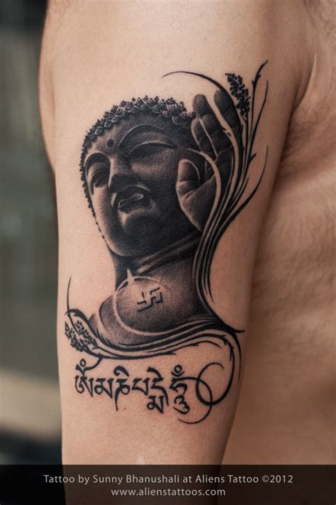 lord buddha tattoo designs gautam buddha inked by at aliens mumbai