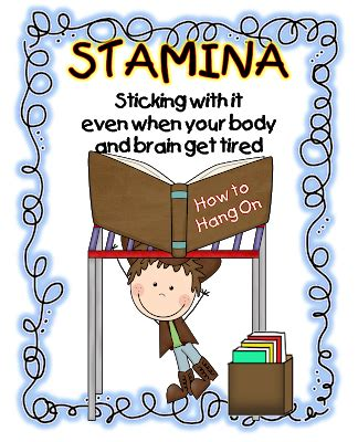 printable stamina poster first grade wow shhhh we re building our stamina