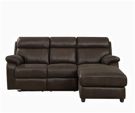 Piece Small Leather Sectional Sofa With Reclining Back Compact Sectional Sofas
