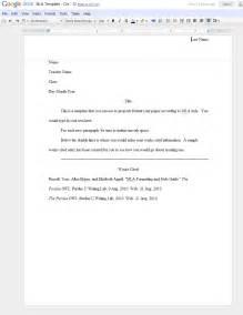 mrs chichester s class wiki google docs mla template