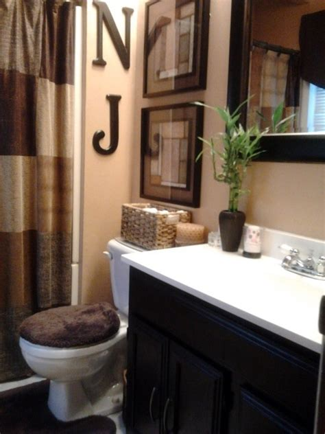 decorative bathroom ideas warm color palette colour