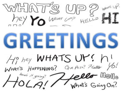 greetings for greetings