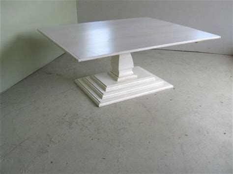 White Square Dining Table For 8 Square Dining Table With Tiered Pedestal Base