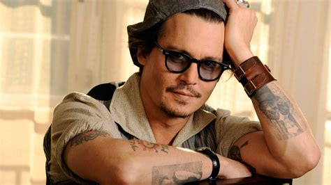 glasses tattoo 1920x1080 hd wallpaper johnny depp actor glasses