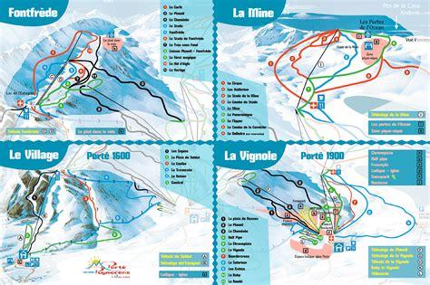 porte puymorens plan des pistes de ski porte puymorens