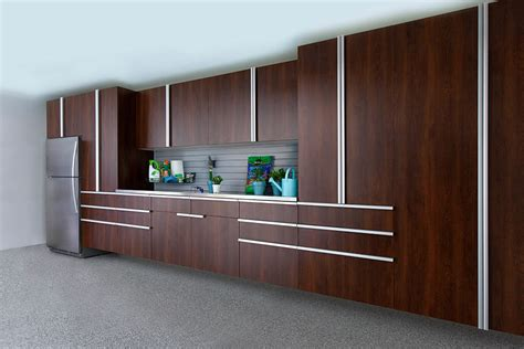 Garage Design Solutions coco garage extruded handles stainless workbench slatwall