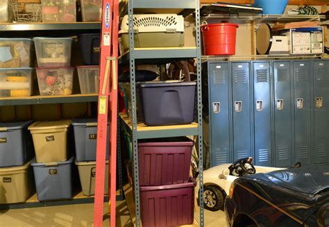 Lockers For Garage Storage by Shelving Lockers Maximize Garage Storage Organization