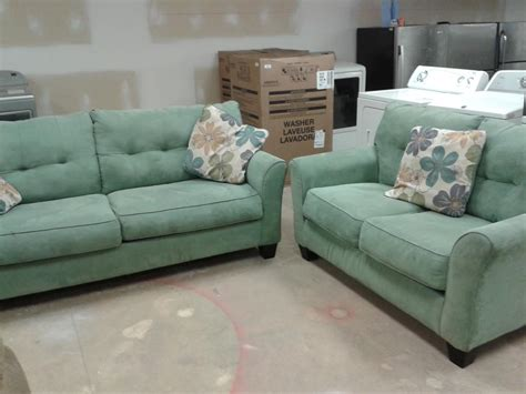 seafoam green sofa loveseat 6113566 city