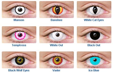 non prescribed colored contacts contact and special effect lenses all techno