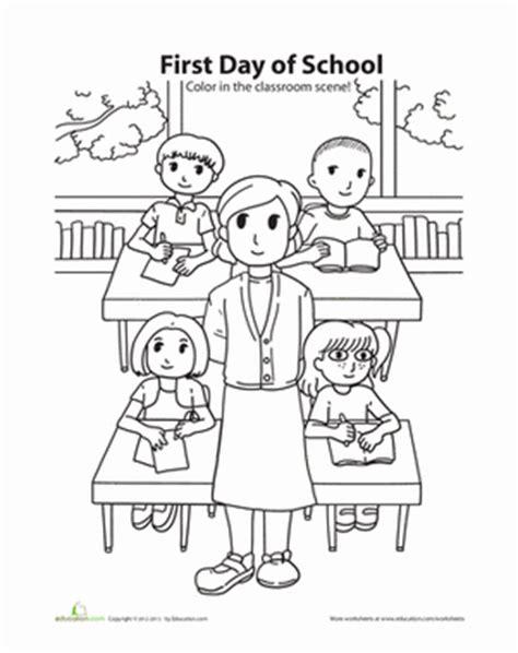 day  school coloring worksheet educationcom