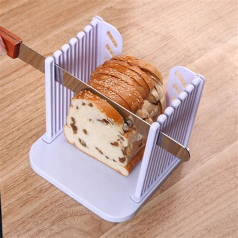 Kitchen Slicing Tools by White Foldable Bread Slicer Cutter Sandwich Maker Cutting