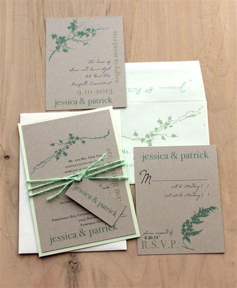 twine wedding invitations sydney ivory mint green rustic chic wedding