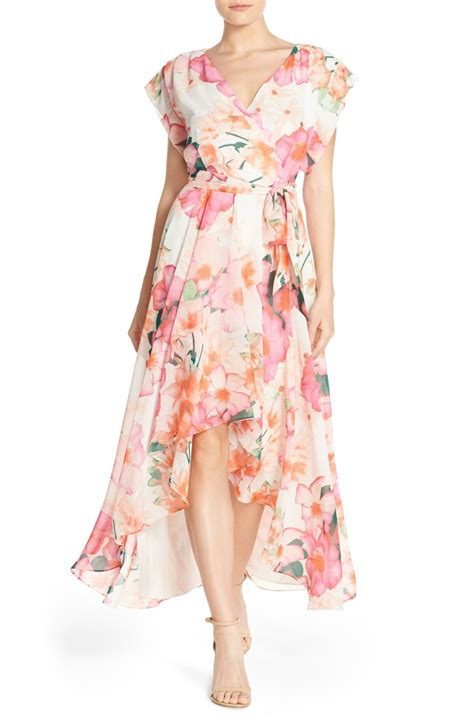 Flowery Dress Maxi floral print maxi dresses for summer wedding guest season