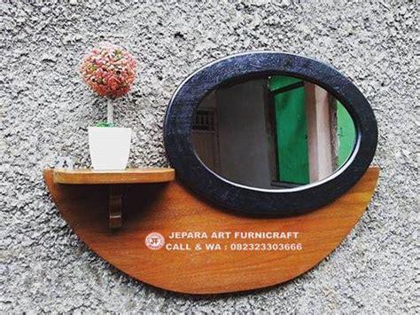 Jual Cermin Oval tetap best seller bufet cermin minimalis vintage jati oval