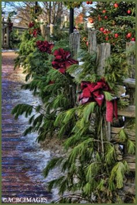 images of christmas garland on a fences 1000 images about fence ideas on fence garland with lights and