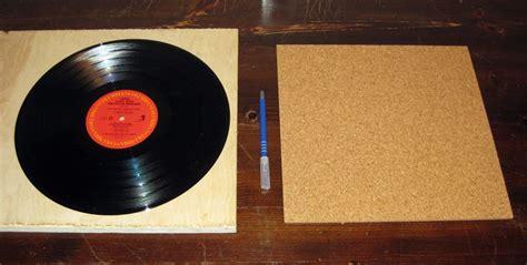 vinyl reprise diy cork turntable mat in 30 minutes
