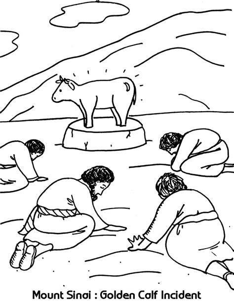 mount sinai golden calf incident coloring sheets