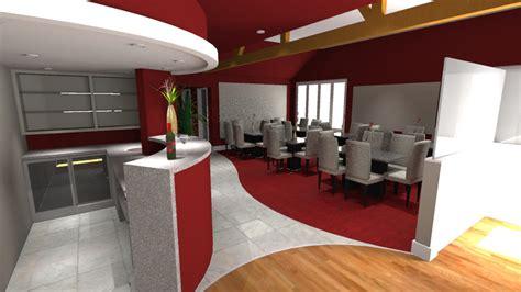 indian restaurant interior design commission leaf