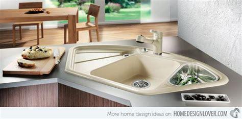15 cool corner kitchen sink designs home design lover with sinks 15 cool corner kitchen sink designs kitchens pinterest