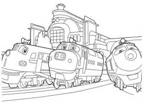 free printable chuggington coloring pages kids