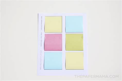 Printable Post It Notes Free Layout To Print And Make Your Own Print On Post It Notes Template