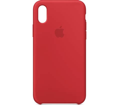 Buy APPLE iPhone X Silicone Case   Red   Free Delivery