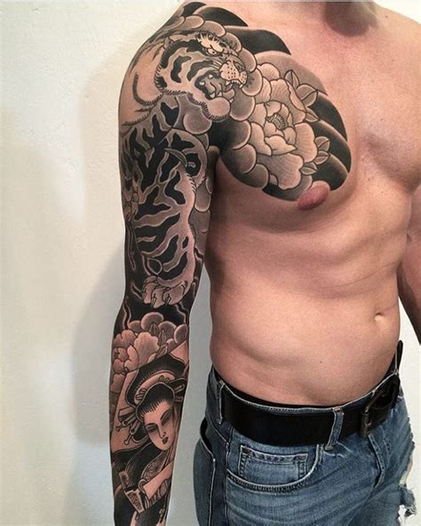 chest to arm tattoos 60 designs for ideas design trends