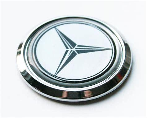 Emblem Mercedes Small Abs Chrome Emblems Logo Chrome With Black Small