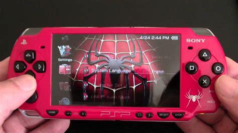 themes psp spiderman custom sony psp 2000 spider man edition playstation