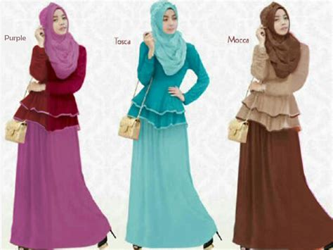 Nabila Set Stelan Fashion Wanita Muslimah Terkini Baju Pesta G jual nabila baju muslim 1 set atasan rok fetch and fab store