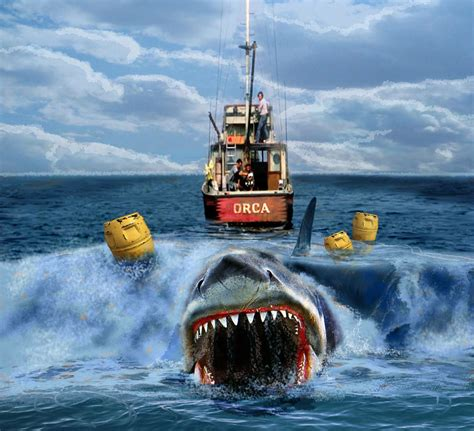 boat from jaws movie jaws orca vs shark cool art repin movie related fun pile