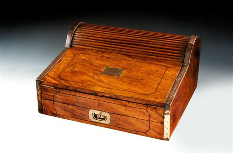 Roll Box caign roll top writing box richard gardner antiques