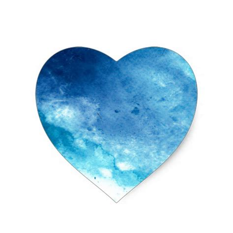 pattern blue heart blue ombre inkblot splatter watercolor pattern heart