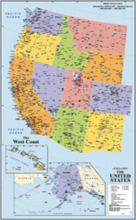 west coast map of usa west coast wall map maps