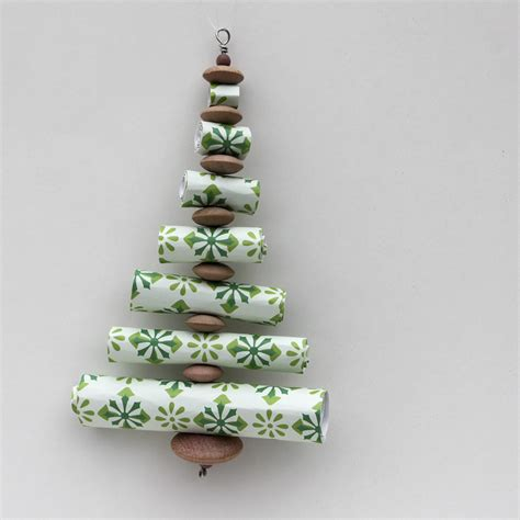 christmas tree made out of ornaments ornament advent day 10 paper roll trees the crafty
