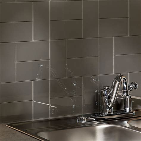 aspect backsplash 3x6 glass tile in leather tile