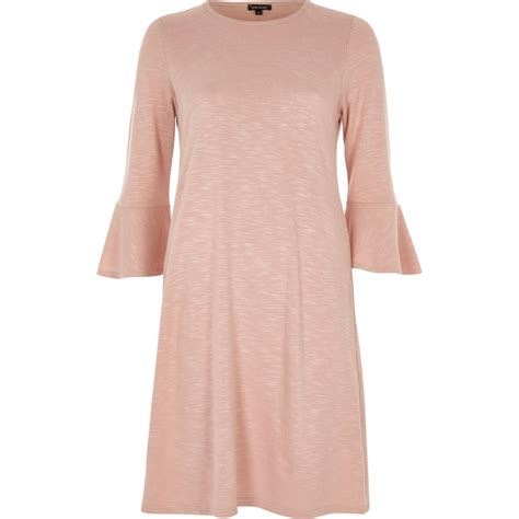 Pink Casual blush pink bell sleeve casual dress dresses sale