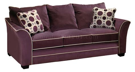 eggplant couch eggplant suede fabric modern sofa loveseat set w options