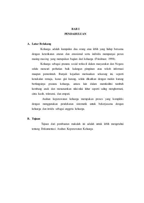 makalah format askep komunitas dokumentasi asuhan keperawatan keluarga