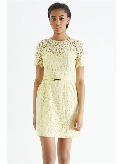 Monochrome Yellow Print Dresses On Sale At Oasis by Yellow Lace Skater Dress Oasis Dress Edin